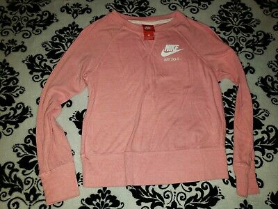 NWOT Girl's Youth Nike Long Sleeve Pink Peach Athletic Shirt Size M Medium