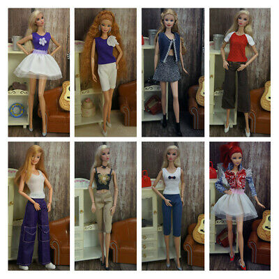 5 Set Barbie Dress Clothes Doll Outfit Accessories Daily Wear Girl Gift AU Stock