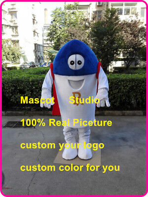 Pill Hero Mascot Costume Suit Cosplay Party Game Dress Outfit Halloween Fancy us