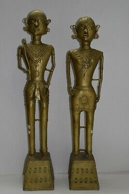 Original Old Tribal Pair Set Collectible Tribal Pair Antique Statues Figure #041