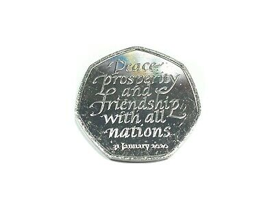 Brexit 50p Brand New Uncirculated 2020 Coin From Sealed Bag - In Hand