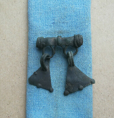 "ANTIQUE 9-10th CENTURY VIKING-AGE BRONZE PAGAN "" DUCK FEET "" AMULET PENDANT"