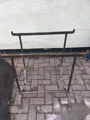 Pair Of Antique Cast Iron Trestles 1920,s