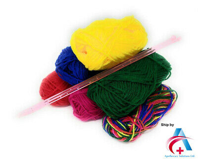 Craft Knitting Kit With Needles - Knitting Yarns With 6 Multi Colors