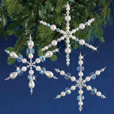 Beadery BOK-5489 Holiday Beaded Ornament Kit 3.75-Inch Sparkling Icicles Makes 30 Ornaments