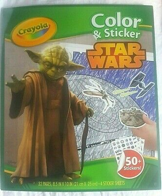 Star Wars Crayola Colour And Sticker Colouring Book32 Page With 50+ Stickers