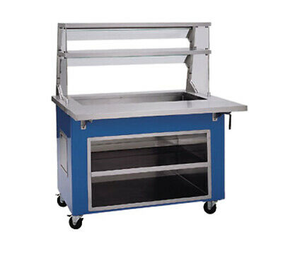 """Delfield KCI-60 60"""" Long Shelleyglas Cold Food Serving Counter w/ Casters"""