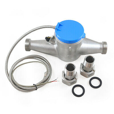 """1"""" Water Meter - Stainless Steel - Pulse Output - Manage Resources - Save Water"""
