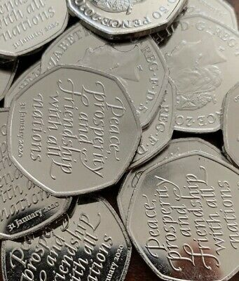 New Brexit 50p Coin 2020 Fifty Pence Collectible Uncirculated From Sealed Bag