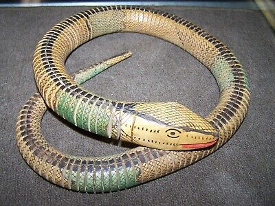 "Vintage Articulated Jointed Wood Snake 38"" Long"