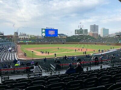 (2) CHICAGO CUBS vs. BREWERS- Wrigley- 6/29/20-BEHIND HOME PLATE- Sec 220,row 8