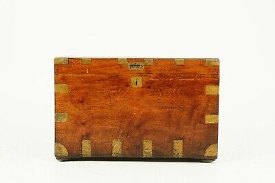 Victorian Military Camphor Wood Travelling Trunk, Chest, Fitted Interior, 1880
