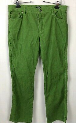 J. Crew Women's Favorite Fit Corduroy Straight Leg Pants Size 12 Green