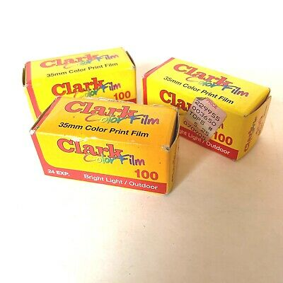 Clark Priocessing Labs Sealed 35mm Color Camera Film Lot Of 3