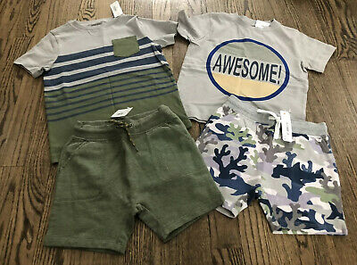 Gymboree Boys Pelican Tee /& Belted Navy Shorts NWT NEW 2T Retail $51.90