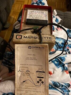 Marquette Dwell-Tach Tester Model 41-188 Vintage W Box And Instructions