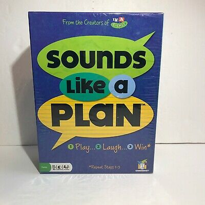 Sounds Like A Plan Family Board Game Gamewright New Factory Sealed
