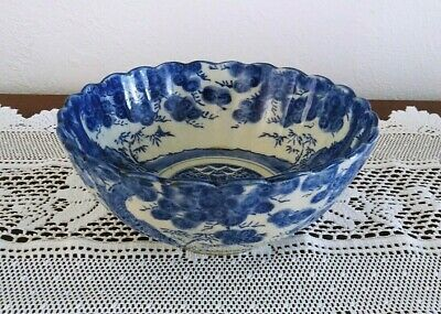 """Antique Chinese Porcelain Blue And White Ming Tree Yongle Bowl 8.5"""""""