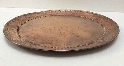Signed John Pearson Large Round Copper Charger / Small Tray _ Newlyn Interest.