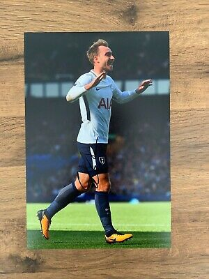 CHRISTIAN ERIKSEN - Hand Signed 12x8 Photo - Tottenham Hotspur Spurs - Football
