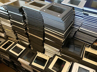 1000 x Vintage 1950s-80s 35mm Photo Slides, Thick Glass Mounts Worldwide Travel