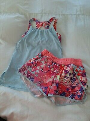 IVIVVA (Girls LULULEMON) Double Layer Tank Top Age 10 & Matching Shorts Age 12