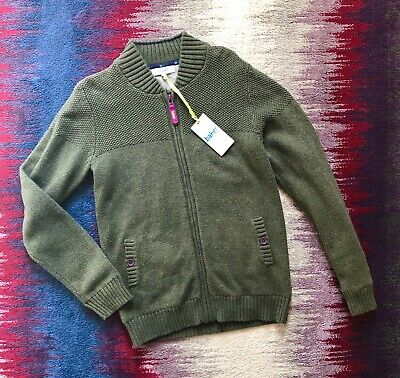 Ted Baker Boys Age 13-14 Years Green Khaki Zipped Jumper Sweatshirt BNWT