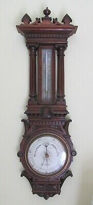 Antique T Armstrong & Brother Manchester England Banjo Wall Barometer