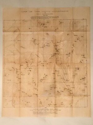 Map of the White Mountains of New Hampshire 1887 AMC Appalachian Mountain Club