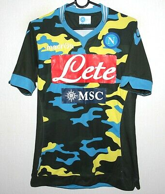 Xl Football Shirt Macron Napoli 13 14 Bnwt Camo Sleeveless Training Jersey