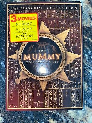 The Mummy Collectors Set (DVD, 2005, 3-Disc Set) Free Shipping!