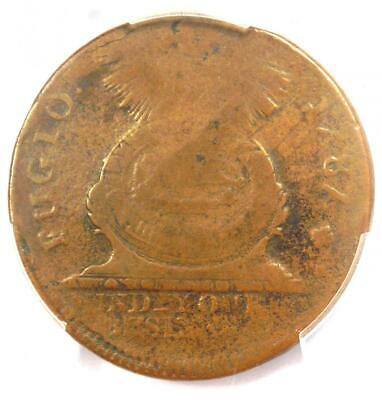 1787 Fugio Cent 1C Colonial Coin (Cross Variety) - PCGS VG8 - $850 Value