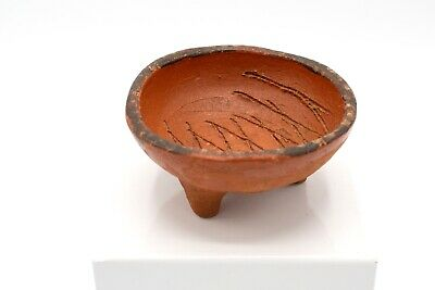 Vintage MCM Terracotta Clay Trinket Dish Catch-All - Burnt Orange, Retro Design
