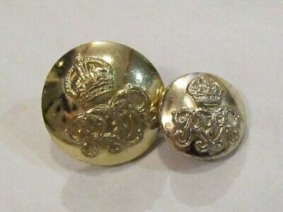 Pack of 8 18mm Royal Netherlands Inspired Gold Metal Military style Button 2052
