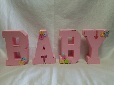 BABY Letters Pink With Buttons