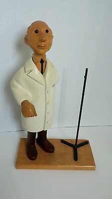 Hand Carved Romer Wood General Surgeon Doctor Italy Vintage