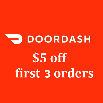 $15 off DoorDash ($5 off first 3 orders coupon) Sign-up Link