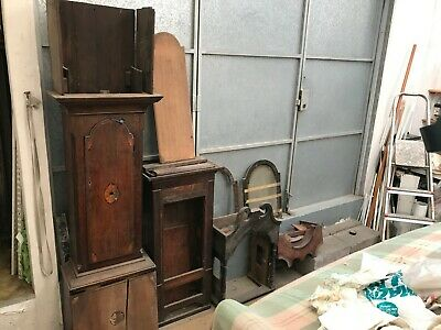 Victorian Grandfather Clock Case Parts