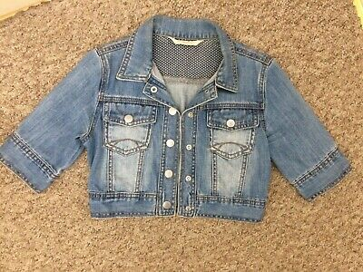 Girls Denim Jacket Age 10 - 11 Years Generation 915 New Look Blue Vintage Look