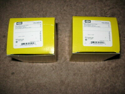 """"""" Lot of 2 """" New Hubbell Straight Blade Receptacles HBL8450A  50A  3 PHASE 250V"""