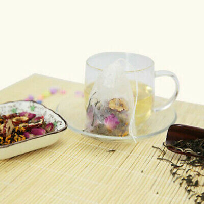 100x Disposable Teabag Drawstring Seal Filter Herb Loose Empty Tea Bags Strainer