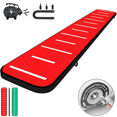 20FT Air Track Inflatable Airtrack Tumbling Gymnastics Mat Training W/Pump Home