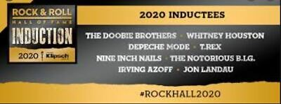 Rock and Roll Hall Of Fame Induction Ceremony 2020 Ticket.