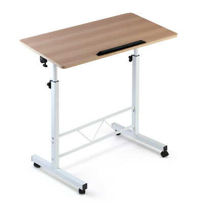 Portable Mobile Laptop Desk Adjustable Height Study Table Computer Stand Matte