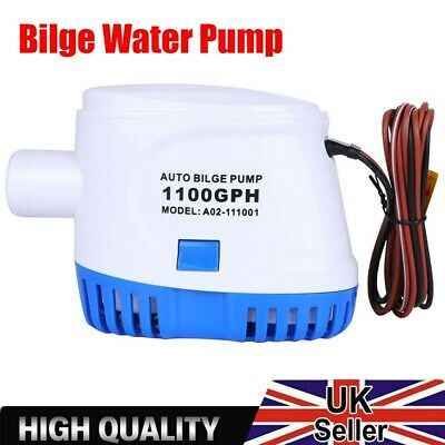 Fully Automatic 1100GPH Boat Marine Submersible Auto Bilge Water Pump w/ Switch