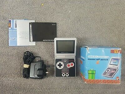 Gameboy Advance SP CONSOLE CLASSIC NES EDITION *d BOXED AGS-001 Game Boy