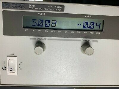 HP Agilent 6671A 5V Variable High Current DC Power Supply 0-8V/0-220A UK Tested