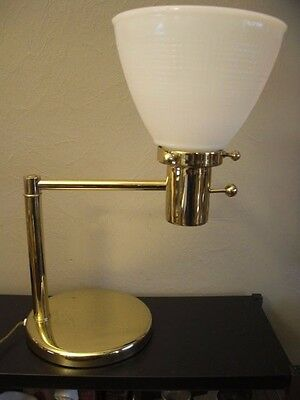 NESSEN MARIA Swing Arm TABLE LAMP/Torchiere Style 60's Midcentury Modern