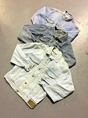 Vintage Wholesale Lot Unbranded Denim Jacket x 25