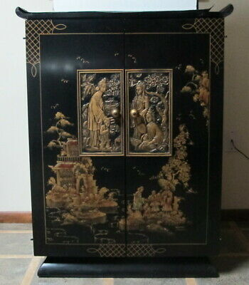"Rare 1950's Vintage Stromberg Carlson ""Chinese Classic"" TV Cabinet"